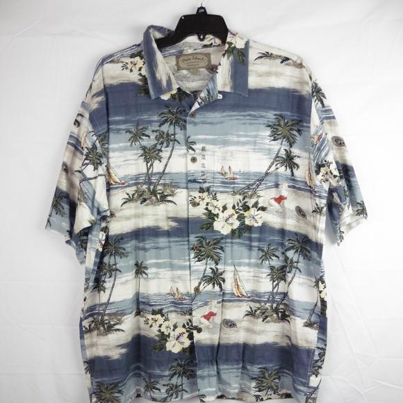 Mens XXL Short Sleeve Button Down Hawaiian Shirt